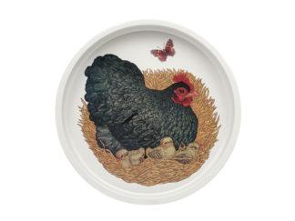 Bricka Rund V.L Chickens