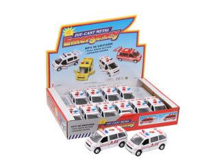 Modellbil Ambulance Vit