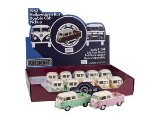 Modellbil 1:34 VW Buss Pickup Pastell-63