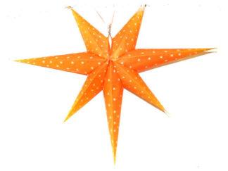 Juldekorationer Adventsstjärna Orange