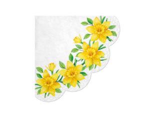 Servett Daffodils Rund
